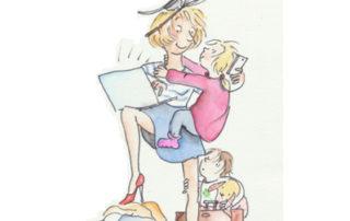 Care-Sorgearbeit - Zeichnung © Julia Ginsberg