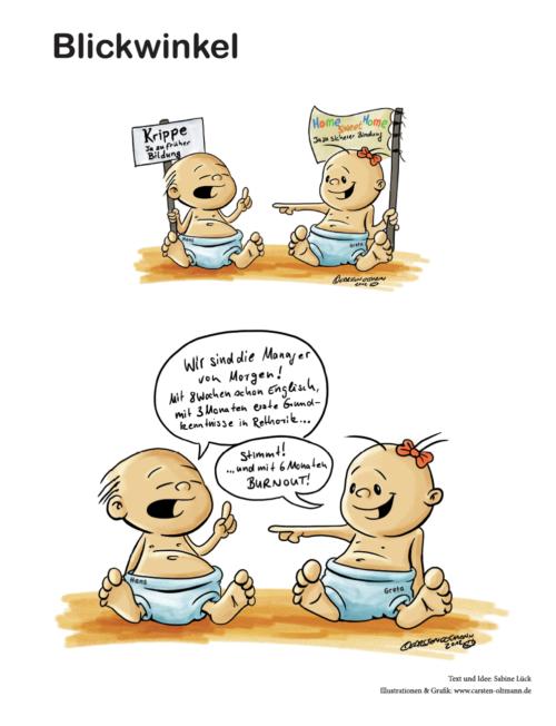 Cartoon Blickwinkel Foto © Stiftung Zu-Wendung für Kinder