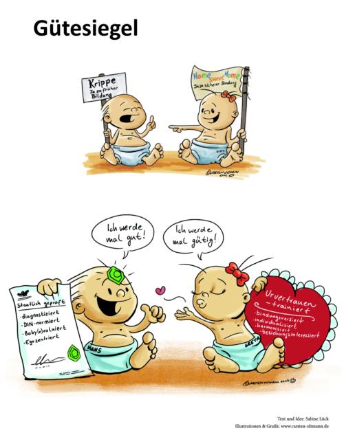 Cartoon Gütesiegel Foto © Stiftung Zu-Wendung für Kinder