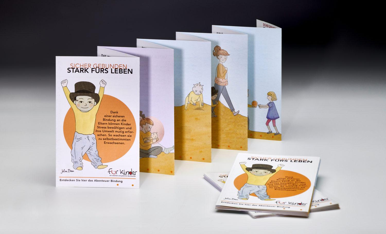 Zeitstrahl - So wächst Bindung © Stiftung Zu-Wendung für Kinder, Zeichnung Jolina Brase, Foto Uwe Meschede