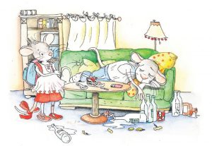 Kinderseelen zerbrechen - Zeichnung © Julia Ginsbach
