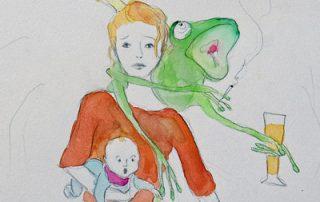 Kinder im Schatten der Sucht 1 - Illustration © Sina Gruber aus Ich will mein Leben zurück