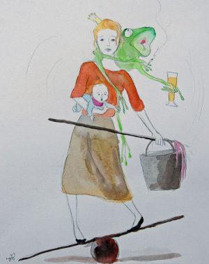 Kinder im Schatten der Sucht 2 - Illustration © Sina Gruber aus Ich will mein Leben zurück