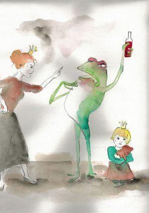 Kinder im Schatten der Sucht 3 - Illustration © Sina Gruber aus Ich will mein Leben zurück
