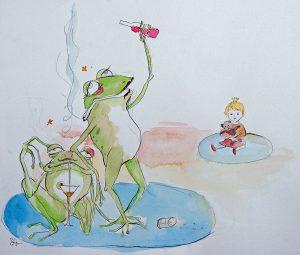 Kinder im Schatten der Sucht 4 - Illustration © Sina Gruber aus Ich will mein Leben zurück