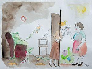 Kinder im Schatten der Sucht 5 - Illustration © Sina Gruber aus Ich will mein Leben zurück