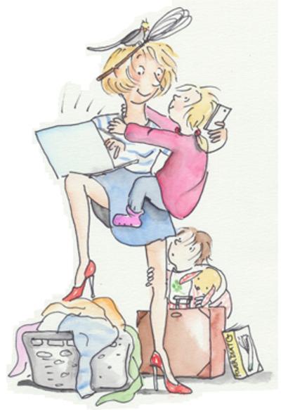 Muttersein Perspektivwechsel - Zeichnung © Julia Ginsberg
